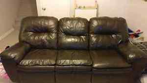 Real leather recliner, quick sale
