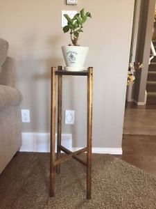 Solid wood side coffee table/ plant stand from Ikea