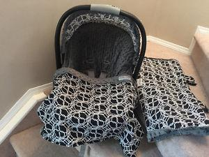 car seat covers, bundle bags and head suports