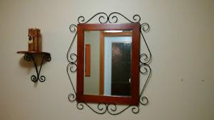 mirror and matching shelf