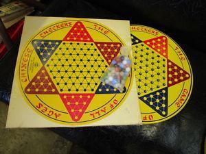s s-121 round metal chinese checkers board original box