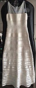 Brand new BCBG Max Azria White Evening Gown