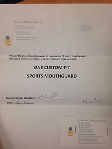 Custom fit mouth guard gift card