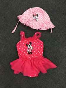 Disney Minnie Mouse Swimsuit and Sunhat...