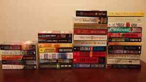 Fiction (mystery and thriller) book lot - various authors