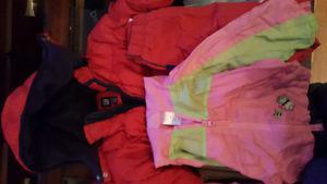 Girls size 2 winter coat splash pants spring coat