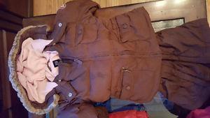 Girls size 4 GAP Brown winter coat and ski pants