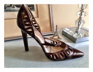 Holiday Designer Brown HIgh heel shoes