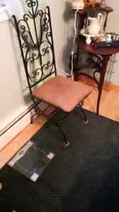 2 rod iron handmade chairs