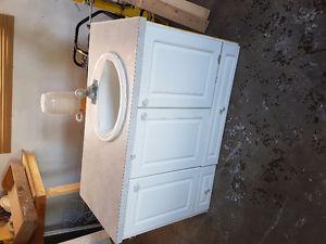 "48"" bathroom vanity with counter top and sink with Moen sink"