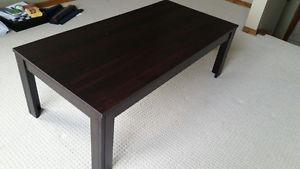99% New hardwood coffee table for $20