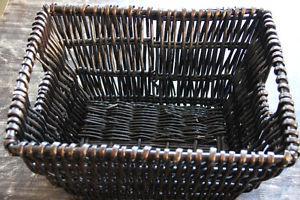 Black wicker basket