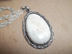 Custom made Bone/sterling silver custom bracelet & pendant