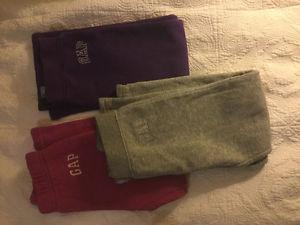 GAP girls fleece lined pants, size 5T
