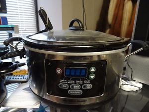 HAMILTON BEACH 6 QT SET AND FORGET SLOW COOKER
