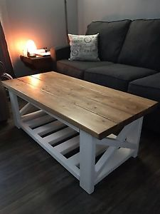 Handcrafted country style coffee table and end table
