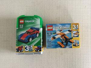 Lego creator car and sea plane