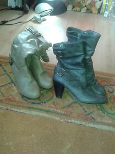TWO PAIRS OF BOOTS $15. EACH