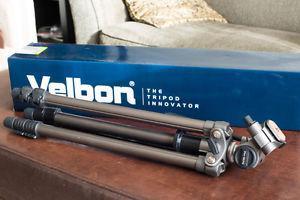 Velbon Sherpa 200R Aluminum Tripod W/3-Way Head - BRAND NEW