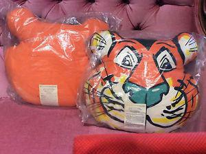 """Vintage """"Friends of the Tiger"""" pillows"""