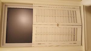 Wooden window shutter blind