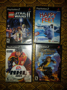 i have 4 PS2 games for sale
