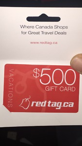 $500 redtag.ca gift card travel cash