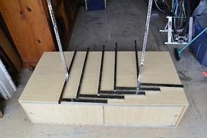 Biege Floor Display and Storage