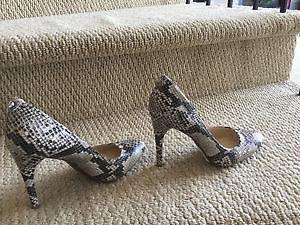 Calvin Klein Leather Heels - Size 7, Brand new