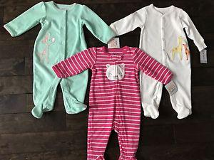 Carter's 6 month sleepers *new with tags*