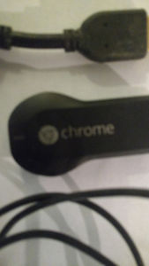 Chromecast with HDMI Cable and USB cable