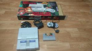 Donkey Kong Super Nintendo Bundle with box