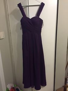 Eggplant bridesmaid dress