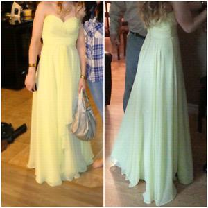 Elegant Yellow prom dress