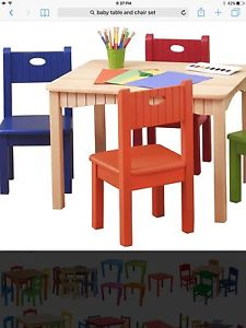Hi looking for a wooden table and chair set for a child