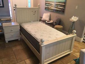 Kids single Bed Frame and night table