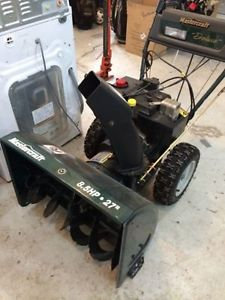 Mastercaft 8.5 hp 27 inch Snowblower for sale $650