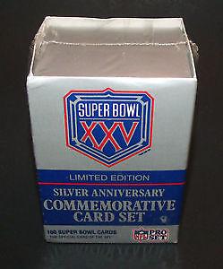 NFL Pro Set Super Bowl XXV Silver Anniversary Football Card