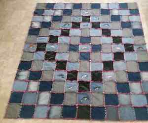 New embroidered Jean rag quilt