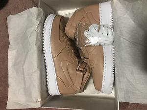Nikelab Air Force 1 Mid Vachetta Tan sz 10