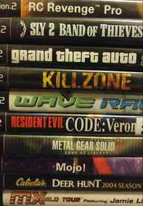 PS2 Games $5