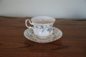 "Royal Albert ""Brigadoon"" china tea cups with saucers"