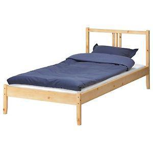 Single wooden IKEA bedframe $25. Airdrie.