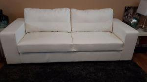 Sofa for sale- White leather