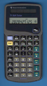 Texas Instruments TI-36X SOLAR Scientific Calculator with