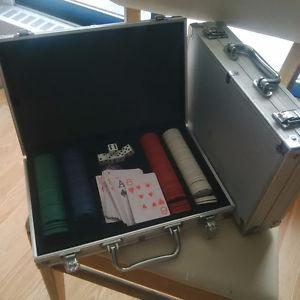 Two Sets of poker chips