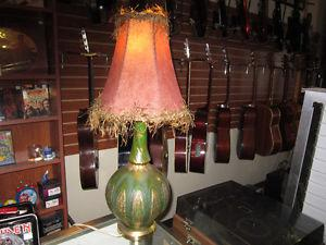 Vintage Table Lamp With Shade For Sale