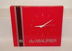 Vintage 's DU MAURIER battery op. WALL CLOCK