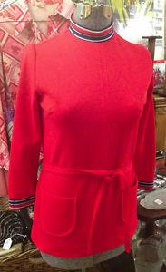 ★ Vintage 's Red MINI DRESS Sz 6/8★
