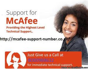 mcafee helpline
